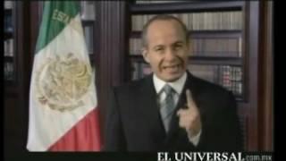 Felipe Calderon ¿ECONOMIA FUERTE? Mensaje 9 de octubre 2008