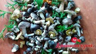 Осенние грибы рядовки и зеленушки! Маринуем на зиму!