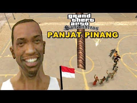 Ucok Ikut Panjat Pinang - GTA Lucu Indonesia Dyom