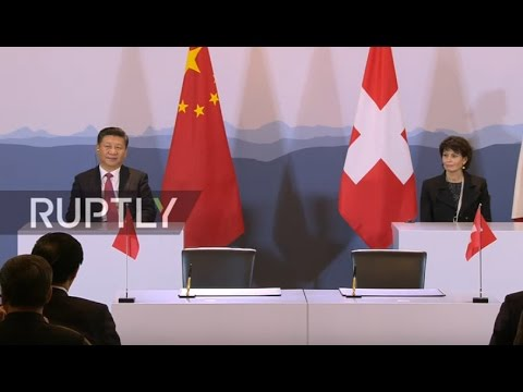 LIVE: Xi Jinping and Swiss president Leuthard give joint press conference ahead of WEF