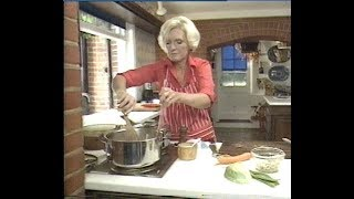 Mary Berry makes vegetable soup | How to make Vegetable soup | Afternoon plus | 1983