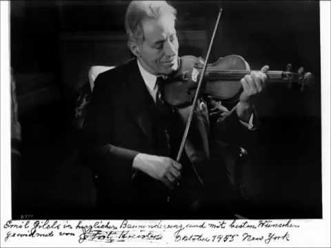 Kreisler - Beethoven Violin Sonata #6 (entire)