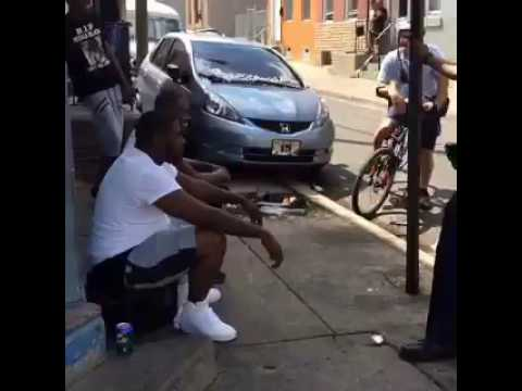 Philadelphia Police Arguing and Cursing at Residents