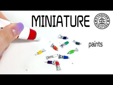 미니어쳐 그림 도구 만들기 #1 물감   MINIATURE paints  / 딩가의 회전목마