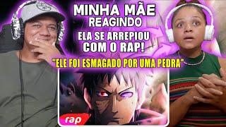 MINHA MÃE REAGINDO AO Rap do Obito (Naruto) - MAIS NINGUÉM VAI SOFRER O QUE EU SOFRI | 7 Minutoz