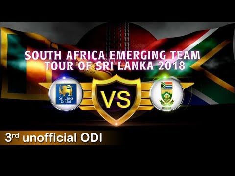 South Africa Emerging Team Tour of Sri Lanka 2018, 3rd Unofficial ODI
