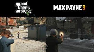 GTA V vs. Max Payne 3 - Side By Side Combat Comparison