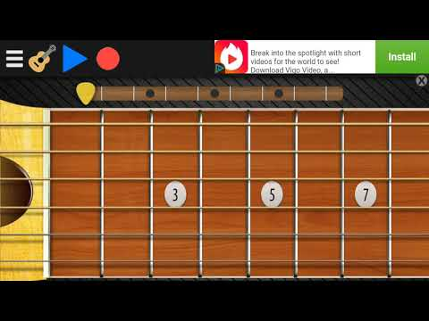 Bharath Ane Nenu song on mobile guitar