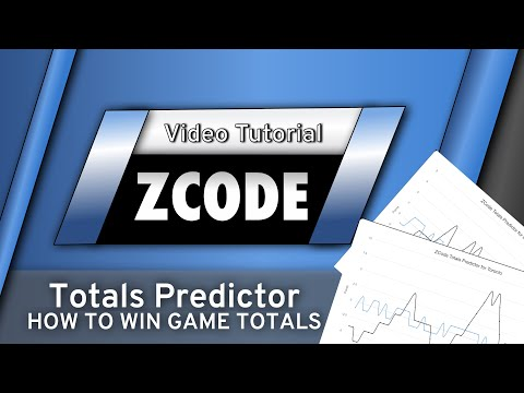 ZCode Totals Predictor - How to win Game Totals? Over 5. Under 5.5