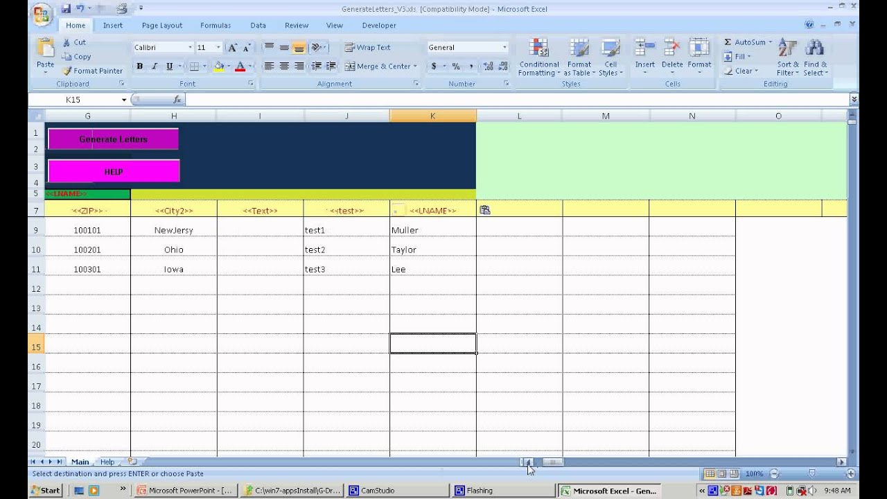 Letters Generator too merging data from Excel VBA Excel to Word