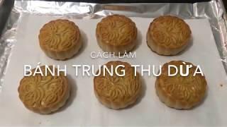 Cách làm bánh trung thu dừa (Công thức này chuẩn)