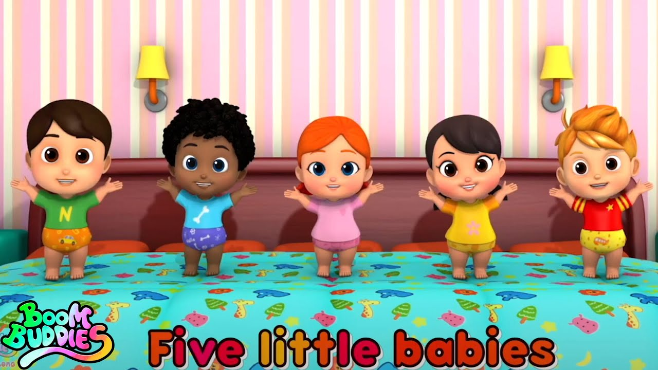 Download Five Little Babies  - Sing Along   Songs for Kids   Nursery Rhymes and Children Song by Boom Buddies