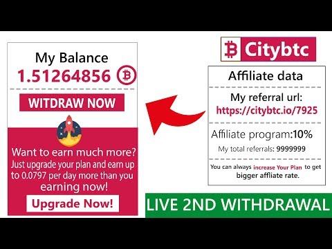 Citybtc.io Free Bitcoin Cloud Mining Site Live Withdrawal Payment Proof 2018 In Urdu Hindi