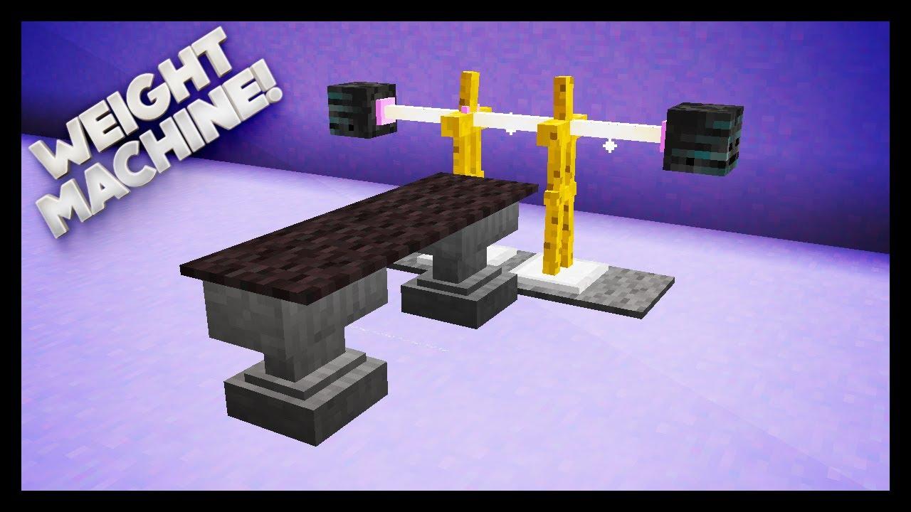 Minecraft how to make a weights machine