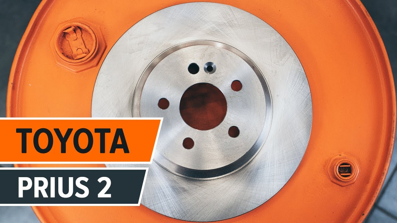 How to replace the front brake discs and brake pads on TOYOTA PRIUS 2  TUTORIAL | AUTODOC
