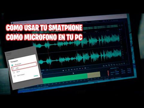 Como Usar Tu Smartphone como micrófono en tu pc y grabar tu voz con adobe audition