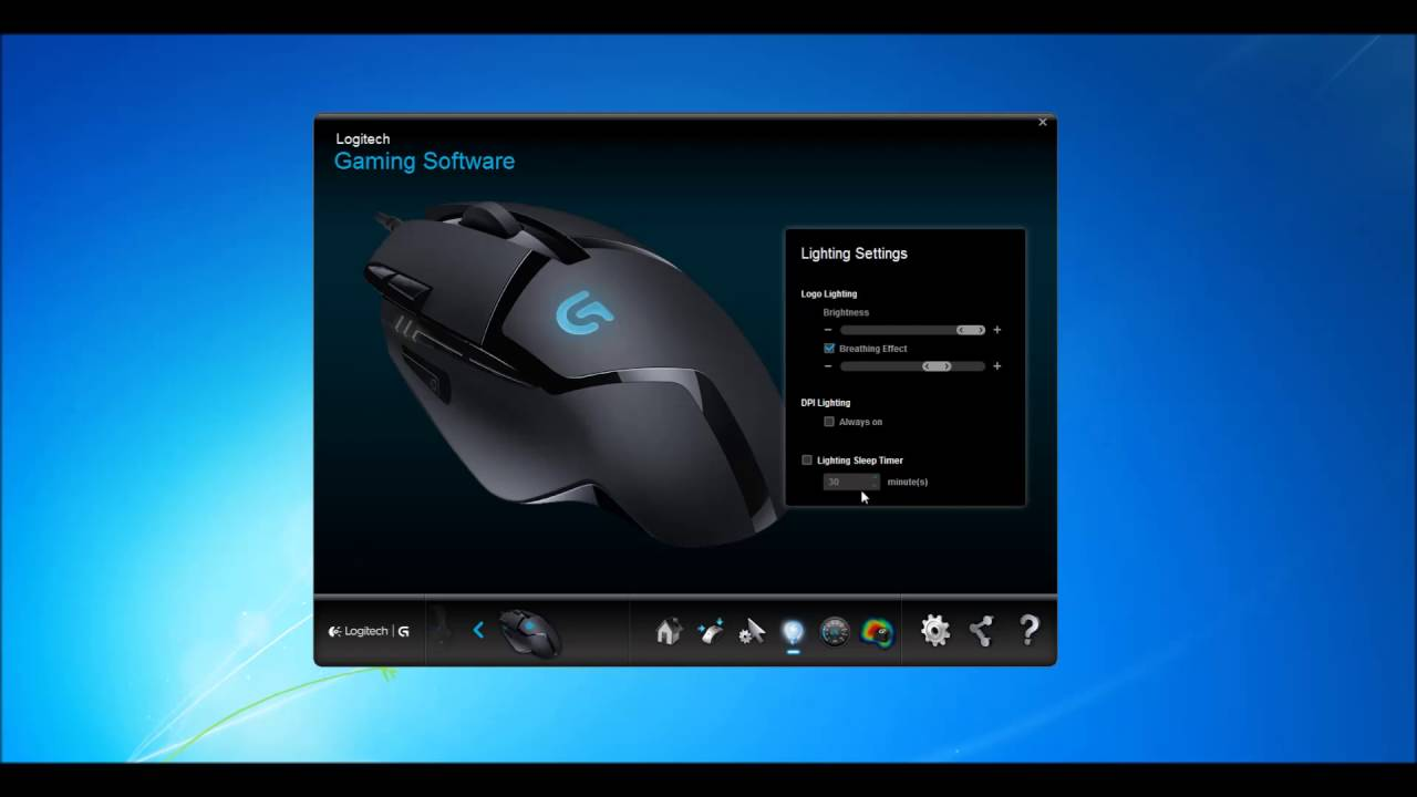 Tuỳ chỉnh Logitech G402 trên Logitech Gaming Software