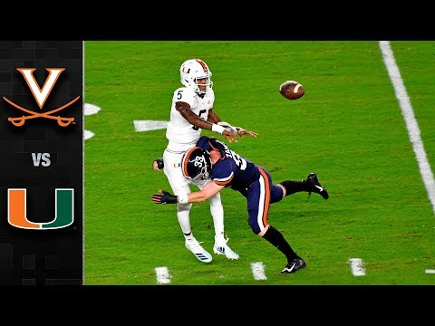 Virginia vs. Miami Game Highlight (2019)