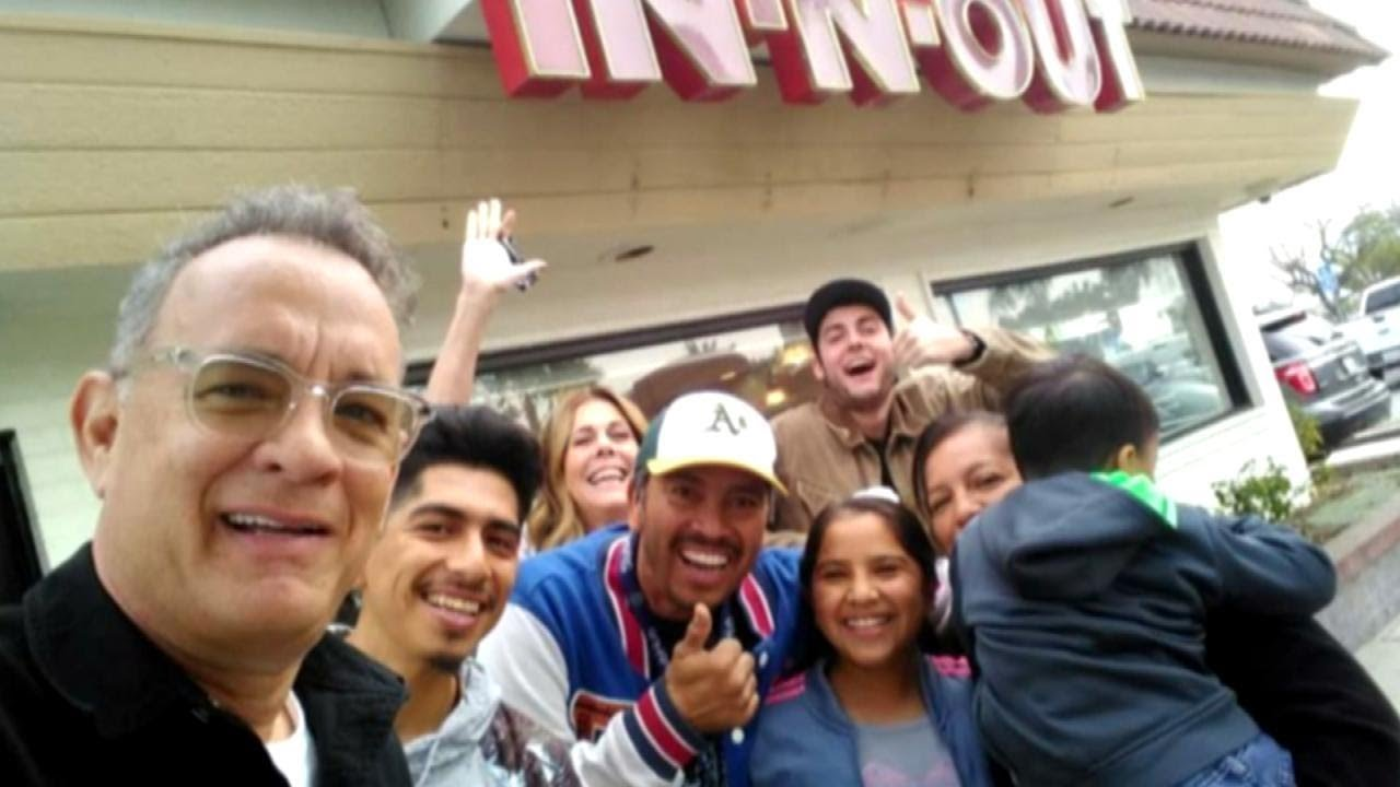 Tom Hanks Pays For Customers Food At In N Out Burger