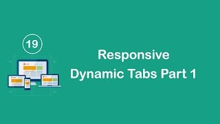 Responsive Design in Arabic #19 - Create Responsive Dynamic Tabs Part 1