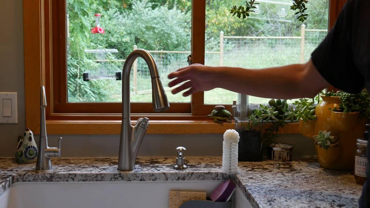 fix a pull down faucet that won t retract pull out faucet repair in 4k moen reflex kohler delta
