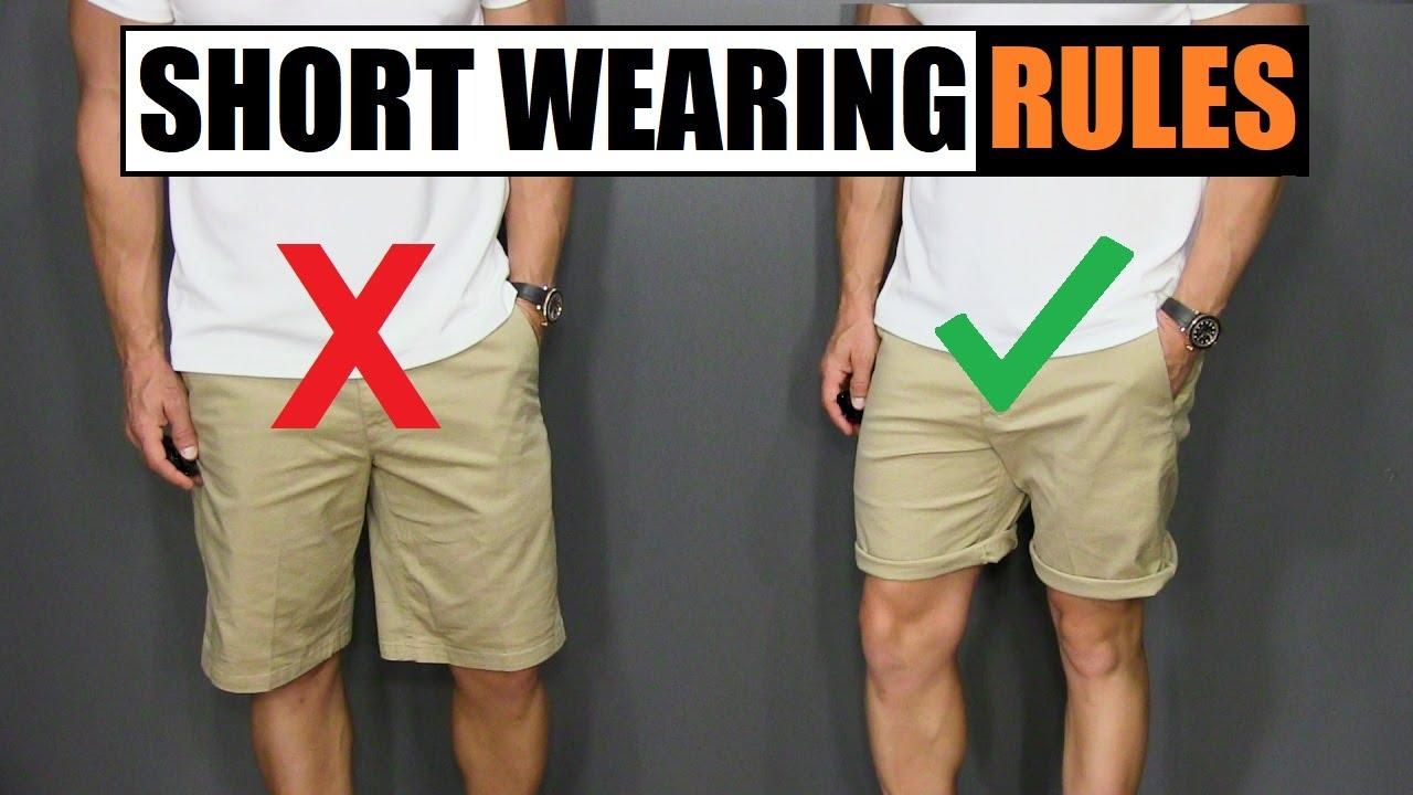 [VIDEO] - 5 Short Wearing Rules ALL Men Should Follow! 1