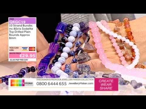 How To Make Gemstone Jewellery - JewelleryMaker LIVE (AM) 19/10/2014