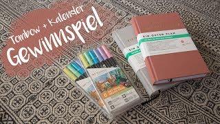 GEWINNSPIEL - Tombow Brush Pen, Ein guter Plan Kalender, DANKE an euch!