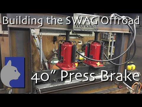 """Building the SWAG 40"""" press brake and frame."""