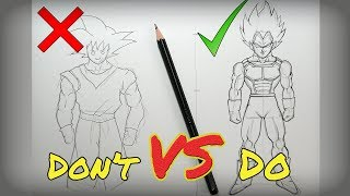 Don't VS Do Compilation | DragonBall Edition - HOW TO DRAW