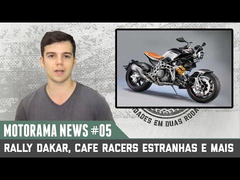 DAKAR 2016, CAFE RACERS ESTRANHAS E MAIS...