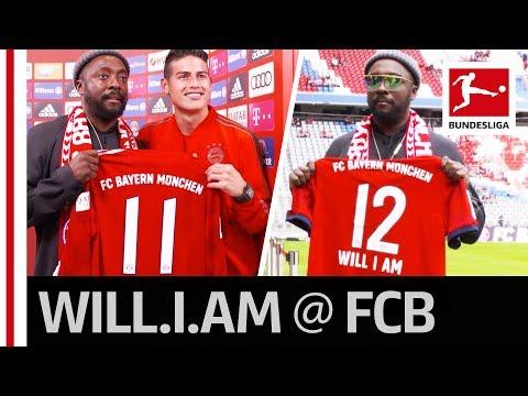 will.i.am Meets James Rodriguez - U.S. Superstar is New Bayern München Fan
