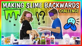 BACKWARDS SLIME MAKING CHALLENGE | We Are The Davises