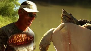 Jeremy's Disappointment At Catching A Softshell Turtle | River Monsters