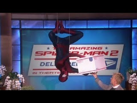 Spider-Man Drops In On Ellen show