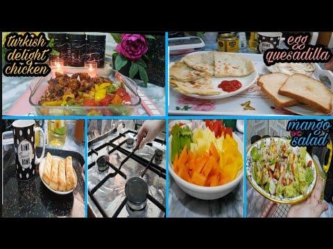 A housewife's lifestyle in Dubai🇦🇪 breakfast   turkish delight chicken mango salad Dubai lifestyle