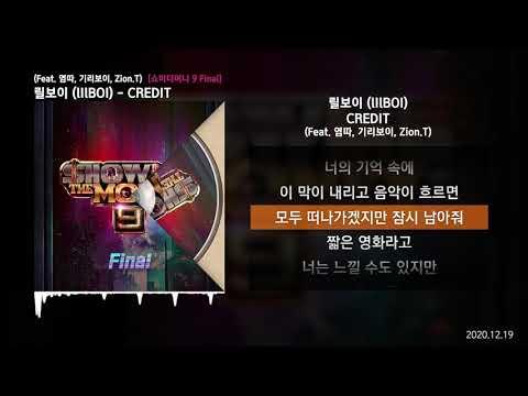 릴보이 (lIlBOI) - CREDIT (Feat. 염따, 기리보이, Zion.T) [쇼미더머니 9 Final]ㅣLyrics/가사