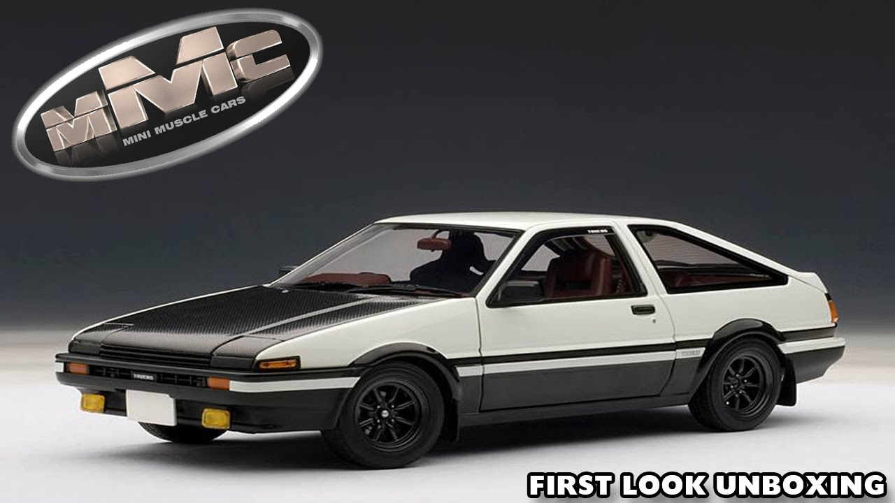 autoart 78797 1 18 toyota sprinter trueno ae86 initial d project d new first look unboxing. Black Bedroom Furniture Sets. Home Design Ideas