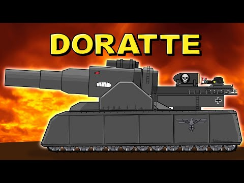"""""""The birth of the monster DORATTE"""" - Cartoons about tanks"""