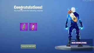 "Fortnite: Challenges/ nBKg unlocks *NEW* skin styles for the ""Back Board"" (Rex/Food) 