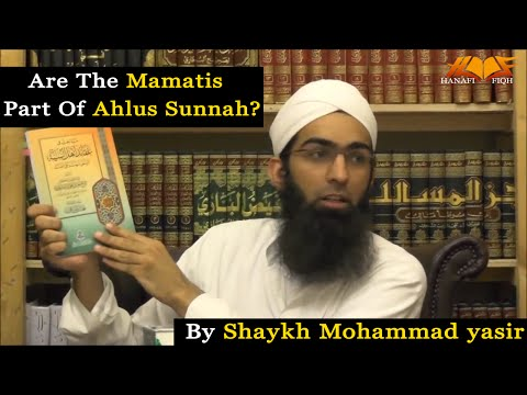 Are the MAMATIS part of Ahlus Sunnah?