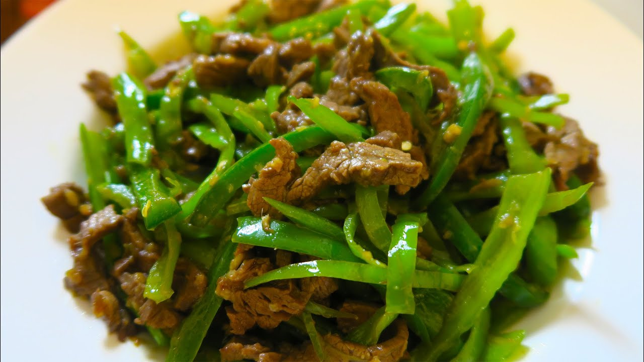 SUPER SPICY! Beef and Pepper Stir-fry Recipe - YouTube