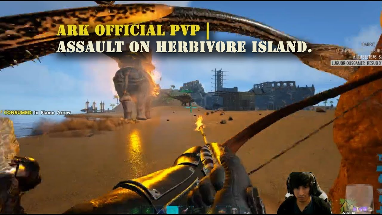 Download Ark Official PVP : Assault on Herbivore Island ( Footage taken from Live Gameplay )