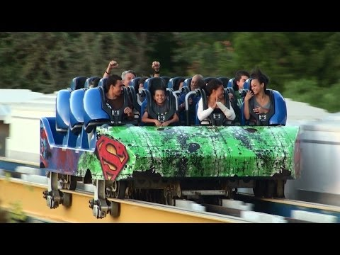 Six Flags Magic Mountain Valencia, CA (full HD)