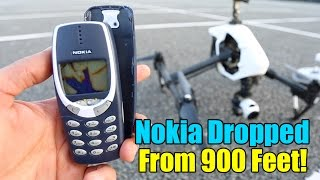 Nokia 3310 Destruction Test  - Extreme 900 Feet Drop Test!