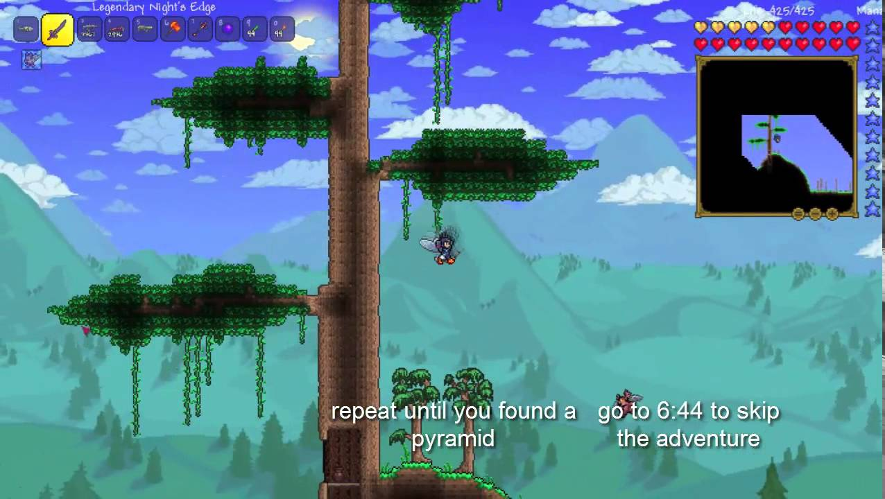 Terraria How To Find Pyramid Youtube