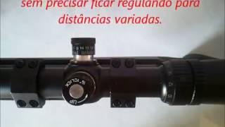 01 Preparando Luneta p/ um ajuste perfeito (Tasco 6-24x42)-How to Zero your scope.