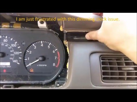 toyota-camry-1999-clock-repair-reseat-dash-clock-fell-out-of-the-mount.-clock-dimming-issue.