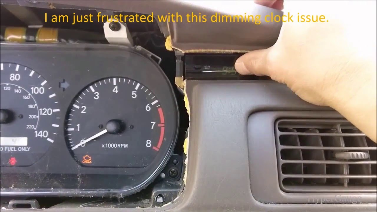 Toyota Camry 1999 Clock Repair Reseat Dash Fell Out Of The Mount Dimming Issue