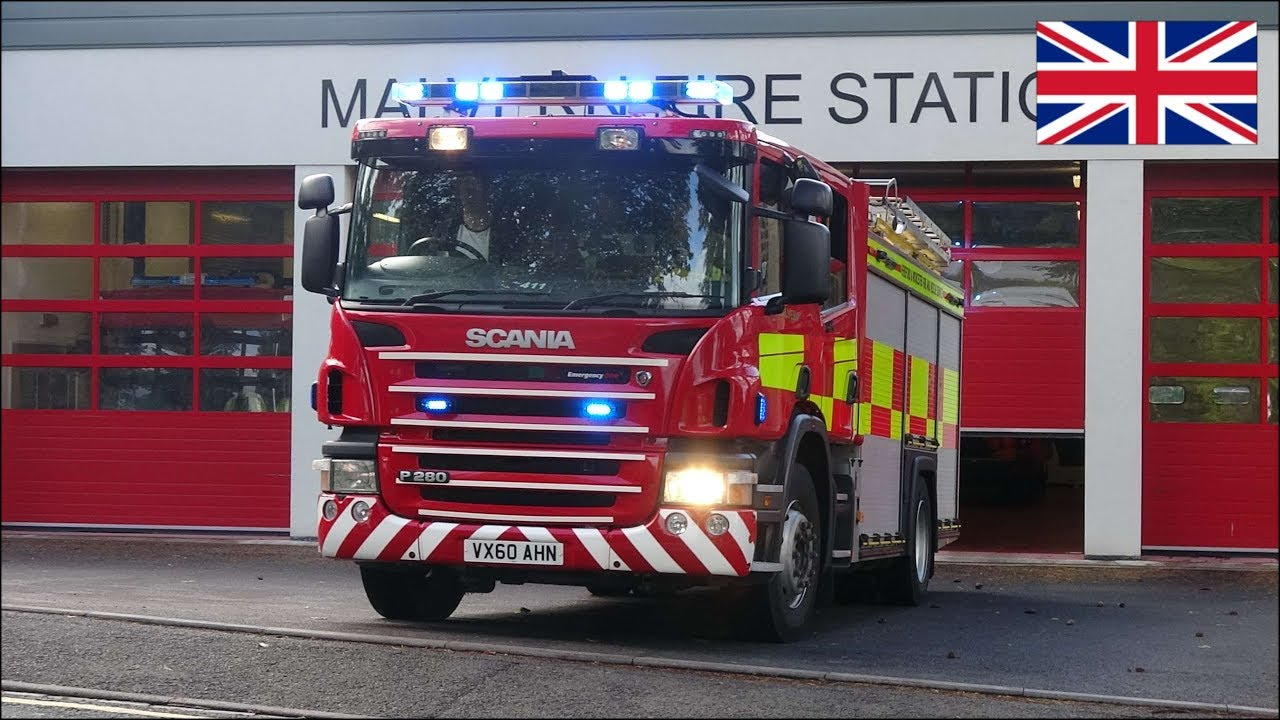 Fire Engine Responding With Siren And New Lights On A
